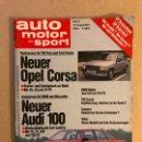 Coches: AUTO MOTOR UND SPORT (1982). ALEMANA. AUDI 100, OPEL CORSA, BMW ALPINA 535I, VW PASSAT, VOLVO,.... Lote 160896220