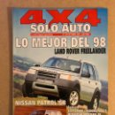 Coches: SOLO AUTO 4X4 N°168 (1997). LAND ROVER FREELANDER, NISSAN PATEOL GR, JEEP GRAND CHEROKEE,..,. Lote 160896521