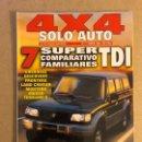 Coches: SOLO AUTO 4X4 N°171 (1998). COMPARATIVA (CHEROKEE, DISCOVERY, FRONTERA, LAND CRUISER, MONTERO, MUSSO. Lote 160896572