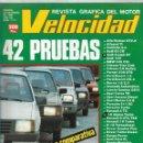 Coches: REVISTA VELOCIDAD NUM. 1111 DE DICIEMBRE DE 1982. 42 PRUEBAS, OPEL CORSA 1.0 Y SUS RIVALES.. Lote 160984258