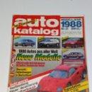 Coches: REVISTA AUTO CATALOGO 1987 AUTOPISTA ALEMAN. Lote 161167266