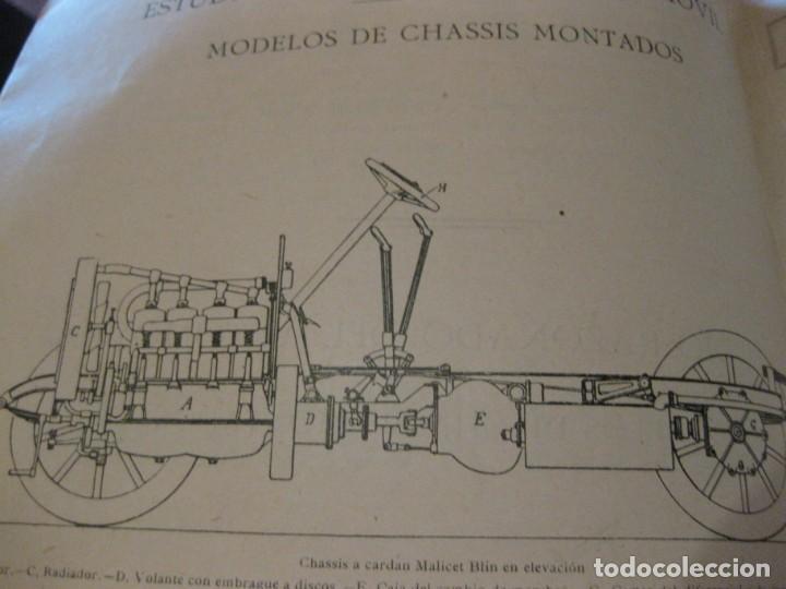 Coches: difícil revista auto tecnica nº 1 año 1920 esquemas chasis divulgacion automovilismo y aviacion - Foto 8 - 161708922