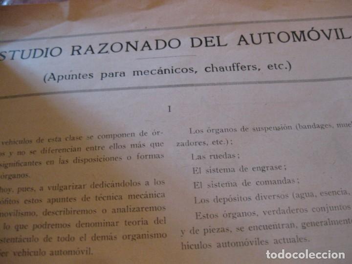 Coches: difícil revista auto tecnica nº 1 año 1920 esquemas chasis divulgacion automovilismo y aviacion - Foto 12 - 161708922