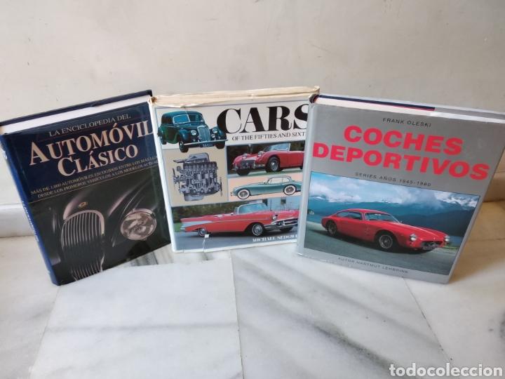 LOTE DE 3 ENCLOPEDIAS DE COCHES (Coches y Motocicletas Antiguas y Clásicas - Revistas de Coches)