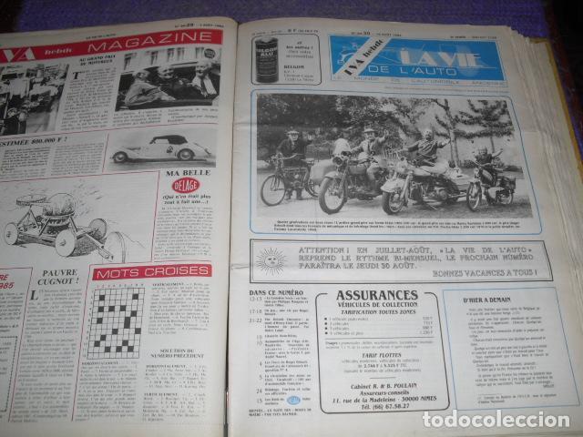 Coches: LA VIE DE L'AUTO - 23 EJEMPLARES - AÑO 1984 - Foto 2 - 164037446