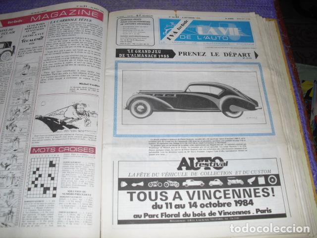 Coches: LA VIE DE L'AUTO - 23 EJEMPLARES - AÑO 1984 - Foto 3 - 164037446