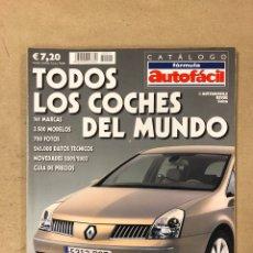 Coches: FÓRMULA AUTOFÁCIL. CATÁLOGO DE 2002. TODOS LOS COCHES DEL MUNDO. 308 PÁGINAS.. Lote 165185037