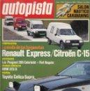 Coches: REVISTA AUTOPISTA Nº 1387 AÑO 1986. PRUEBA: TOYOTA CELICA SUPRA. COMP CITROEN C15 Y RENAULT EXPRESS.. Lote 165778530