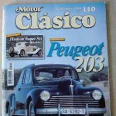 Coches: REVISTA 1999 - MOTOR CLASICO 14 - PORTADA PEUGEOT 203 - 100 PGS 350GR. Lote 166047694