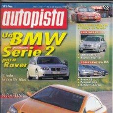 Coches: REVISTA AUTOPISTA Nº 2084 AÑO 1999. PRUEBA: BMW Z3 ROADSTER 2.0. COMP: PEUGEOT 406 3.0 V6 SV, . Lote 166995144