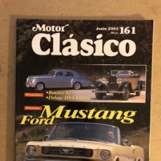 Auto: MOTOR CLÁSICO N°162 (JUNIO, 2001). FORD MUSTANG, BENTLEY S2, DELAGE DS CHAMPION,... Lote 167480260