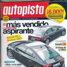 Coches: REVISTA AUTOPISTA Nº 2657 AÑO 2010. PRU: MITSUBISHI ASX DI-D 4WD. COMP: FIAT 500 1.4, FORD KA 1.2,. Lote 167993808