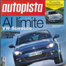 Coches - REVISTA AUTOPISTA Nº 2577 AÑO 2008. PRU: MASERATI QUATTROPORTE 5. COMP: BMW 120D COUPE, VOLVO C30 D5 - 168297856