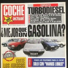 Coches: COCHE ACTUAL Nº 223 - FORD FIESTA EXPO 1.4 HONDA CBR 900 RR FIAT TIPO TD RENAULT 19 RT DT CITROEN ZX. Lote 246076190
