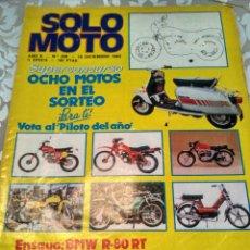 Coches: REVISTA SOLO MOTO N° 359 1982. Lote 168474550