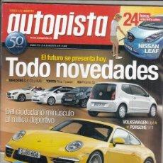 Coches: REVISTA AUTOPISTA Nº 2719 AÑO 2011. . Lote 168502924