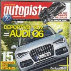 Coches: REVISTA AUTOPISTA Nº 2724 AÑO 2011. PRUEBA: VW TOUAREG 3.0 TDI. JAGUAR XF 2.2D. BMW 116I 5P. . Lote 168503908