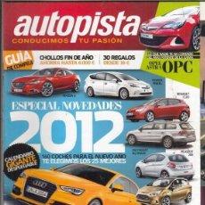 Coches: REVISTA AUTOPISTA Nº 2735 AÑO 2011. COMP: VW GOLF 1.6 TDI/90, CITROEN C4 HDI/90 Y AURIS 1.4 D-4D/90. Lote 168508384
