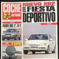 Coches: COCHE ACTUAL Nº 209 - FORD FIESTA XR2I 16V AUDI 80 2.0 E BMW R.100 R ROADSTER. Lote 168547968