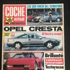 Coches: COCHE ACTUAL Nº 51 - OPEL VECTRA GT PEUGEOT 405 SRI RENAULT 21 TI RENAULT 19 GTD. Lote 168663684