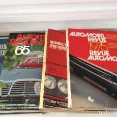 Coches: LOTE DE 4 AUTOMOBILE REVUE 1964 1965 1969 1975 . Lote 168714880