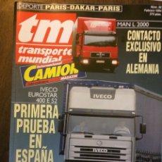 Auto: REVISTA TRANSPORTE MUNDIAL NÚMERO 80 DE 1994 CAMION PEGASO IVECO MAN. Lote 224186105