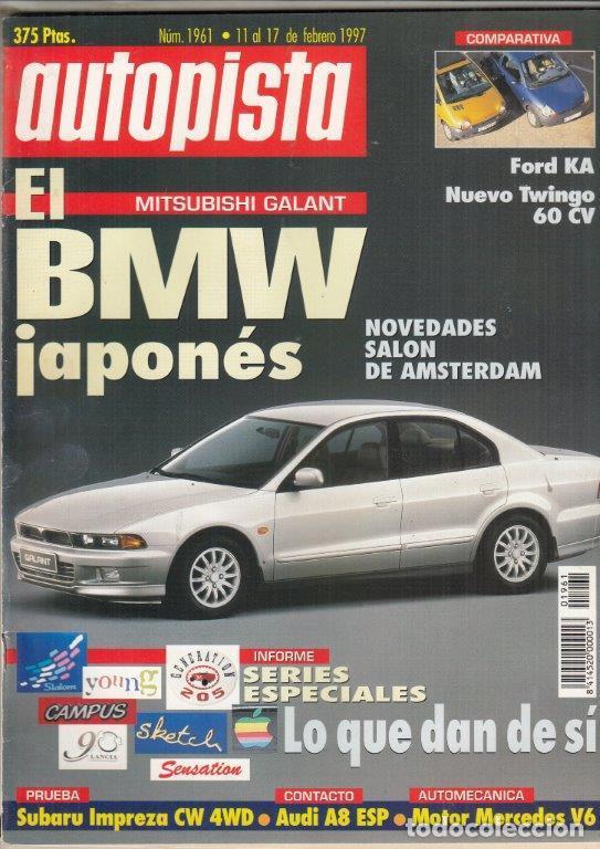 REVISTA AUTOPISTA Nº 1961 AÑO 1997. PRU: SUBARU IMPREZA CW 4WD. COMP: FORD KA Y RENAULT TWINGO 1.1. (Coches y Motocicletas Antiguas y Clásicas - Revistas de Coches)