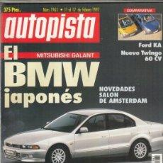 Coches: REVISTA AUTOPISTA Nº 1961 AÑO 1997. PRU: SUBARU IMPREZA CW 4WD. COMP: FORD KA Y RENAULT TWINGO 1.1.. Lote 169721880