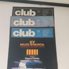 Coches: CLUB Nº 187.188.193 . REVISTA ACLUB ATUMOVIL DE CATALUNYA . AÑOS 79. Lote 169732672