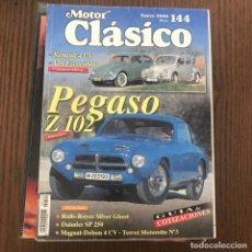 Coches: MOTOR CLÁSICO 144 - ENERO 2000 - RENAULT 4CV, VW ESCARABAJO, PEGASO Z 102, ROLLS ROYCE. Lote 169747424