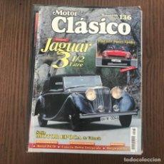 Coches: MOTOR CLÁSICO 136 - MAYO 1999 - JAGUAR 3 1/2 LITRE, FIAT 124 SPORT SPIDER. Lote 169747508