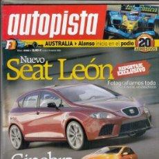 Coches: REVISTA AUTOPISTA Nº 2382 AÑO 2005. PRUEBA: MERCEDES SL SLK 55 AMG. BMW M5. . Lote 170026444
