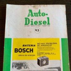 Coches: REVISTA AUTO-DIESEL Nº 91 FORD CORTINA. Lote 171011234