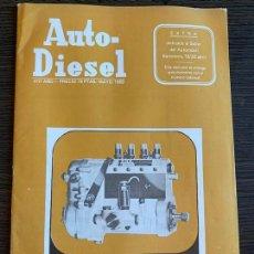 Coches: REVISTA AUTO-DIESEL EXTRA DEDICADO AL SALÓN DEL AUTOMÓVIL BARCELONA ABRIL 1969. Lote 171011619