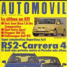 Coches: REVISTA AUTOPISTA Nº 206 AÑO 1995. PRU: SEAT IBIZA GTI 1.08 16V. COMP: VW GOLF GTI, OPEL ASTRA SPORT. Lote 171315232