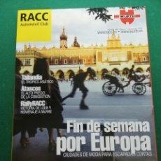 Coches: REVISTA RACC AUTOMÓVIL CLUB NÚMERO 448 ÉPOCA 7 NOVIEMBRE 2007. Lote 171428400