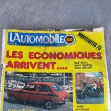 Coches: REVISTA L'AUTOMOBILE. Lote 172232078