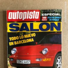 Coches: AUTOPISTA N° 1556 (MAYO 1989). FORD FIESTA D 1.8, PEUGEOT 405 FAMILIAR, SALÓN DE BARCELONA,MÓNACO F1. Lote 172353608