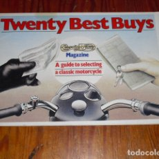 Coches: TWENTY BEST BUYS - A GUIDE TO SELECTING A CLASSIC MOTORCYCLE - 1980 -. Lote 172368913