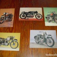 Coches: CONJUNTO 5 POSTALES DE MOTOCICLETAS CLÁSICAS INGLESAS - EDITION NATIONAL MOTORCYCLE MUSEUM -. Lote 172369105