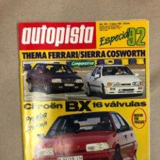 Coches: AUTOPISTA N° 1492 (1988). CITROËN BX 16V, THEMA FERRARI VS SIERRA COSWORTH, VW PASSAT,.... Lote 172375988