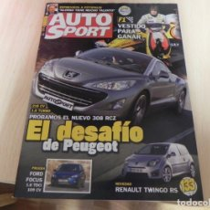 Coches: REVISTA AUTO SPORT Nº1167 DESAFIO PEUGEOT - FORD FOCUS - RENAULT - ALONSO . Lote 173159632