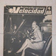 Coches: VELOCIDAD. REVISTA GRÁFICA DEL MOTOR. Nº 14, 15 DE SEPTIEMBRE DE 1960.. Lote 174406339