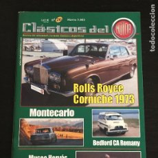 Coches: CLASICOS DEL MOTOR Nº 20 - ROLLS ROYCE CORNICHE BEDFORD DORMOBILE SPIDER RENAULT 8 TS MUSEO HERVAS. Lote 175217864