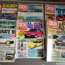 Coches: GRAN LOTE 52 REVISTAS COCHE ACTUAL 1991 AÑO COMPLETO. Lote 175259462
