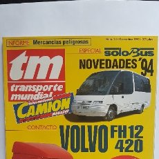 Coches: REVISTA TM - Nº 78 -TRANSPORTE MUNDIAL - CAMIÓN - DICIEMBRE 1993- ESPECIAL SOLO BUS. Lote 175313904