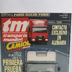 Voitures: REVISTA TM - Nº 80 -TRANSPORTE MUNDIAL - CAMIÓN - FEBRERO 1994- IVECO EUROSTAR 400. Lote 175314048