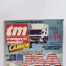Coches: REVISTA TM - Nº 83 -TRANSPORTE MUNDIAL - CAMIÓN - MAYO 1994- ESPECIAL USA. Lote 175321692