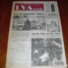 Coches: LA VIE DE L'AUTO - Nº 589 - RENAULT 4 CV -. Lote 175327984