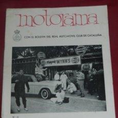 Coches: REVISTA MOTORAMA BOLETÍN DEL RELA AUTOMOVIL CLUB DE CATALUNYA N.10 MOTOCICLISTAS DE MONTJUICH 1961. Lote 175657533